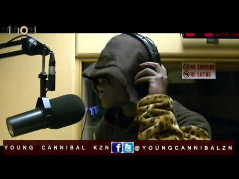 Young Cannibal live ON ukhoziFm dropping bars addressing stupit music followers