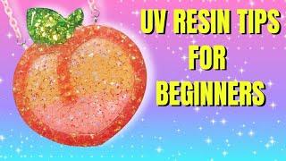 NEW TO UV RESIN? TRY THESE TIPS! | Peach Emoji Necklace #ResinTips #UVResinTips #AyeshaShaSha