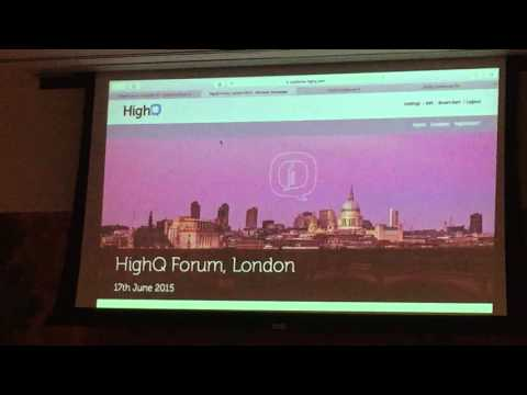 HighQ NYC Tech Forum - Collaborate and Publisher