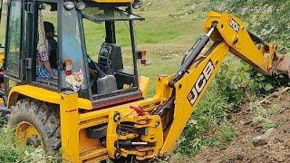 JCB Backhoe Machine Working on Mud   jcp   jcb   jcb