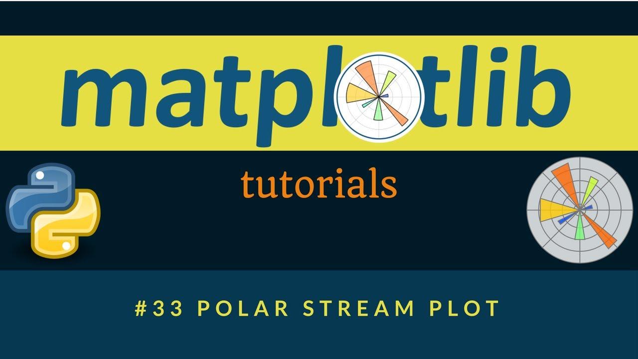 Matplotlib Plotting Tutorials : 033 : Polar Stream Plot