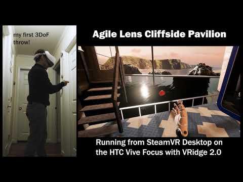 Wireless Vive Focus running Desktop SteamVR