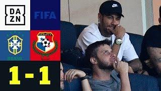 Verletzter Neymar sieht Panama-Sensation: Brasilien - Panama 1:1 | Länderspiele | DAZN Highlights