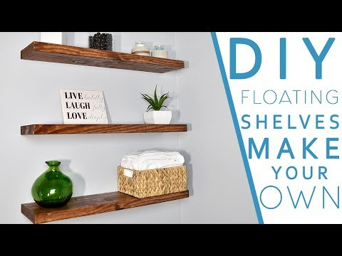 Easy DIY FLOATING SHELVES No bracket | DIY CREATORS