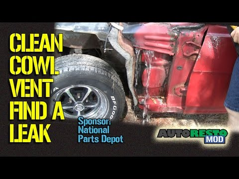 How To Find Cowl Vent Leaks On 1960's Muscle Cars Episode ...