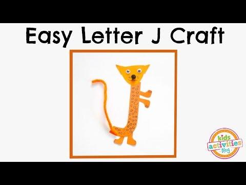 Easy Letter J Craft -- Preschool Alphabet Resource