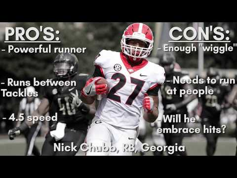 Brock's Draft Profile - Nick Chubb, RB, Georgia