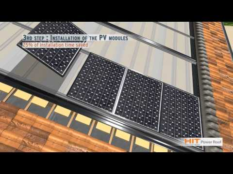 SANYO Solar HIT Power Roof (English)