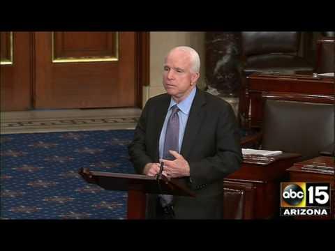Arizona Senator John McCain reacts to Jeff Merkley filibuster over Judge Neil Gorsuch Supreme Court