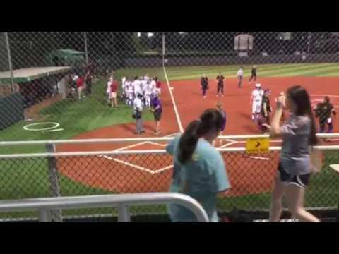 Wild ending to softball game: Louisiana Tech vs Northwestern State