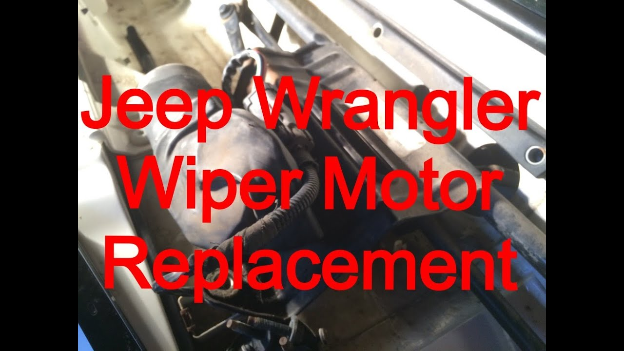 maxresdefault windshield wiper motor replacement 1999 jeep wrangler youtube jeep yj wiper motor wiring diagram at edmiracle.co