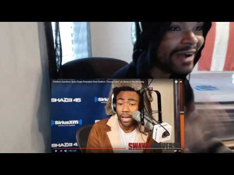 "Childish Gambino Spits Dope Freestyle Over Drake's ""Pound Cake"" on Sway in the Morning REACTION!!!"