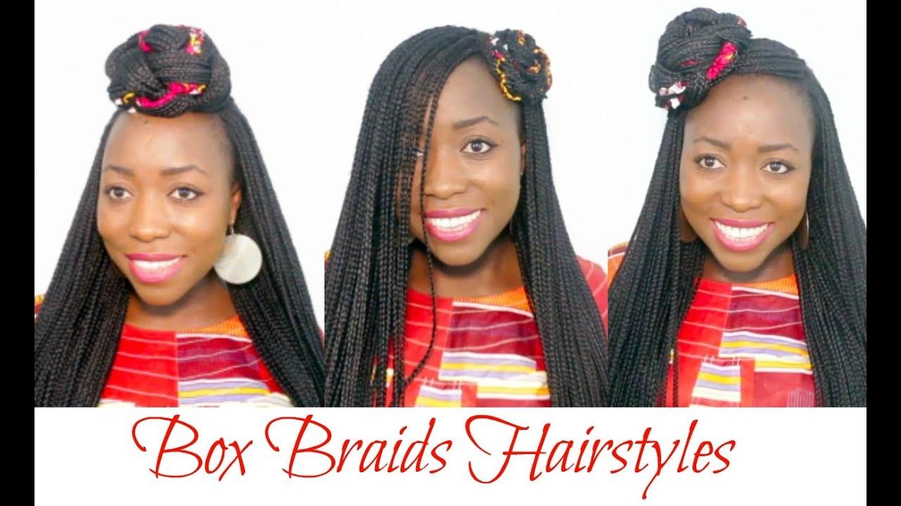 Box Braids Hairstyles Youtube: Box Braids Hairstyles How To Style Long Micro Box Braids
