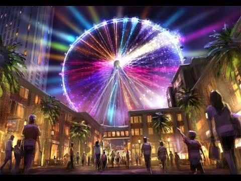 High Roller Las Vegas World's Tallest Ferris Wheel Night Ride | Time Lapse