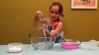 How to Make Pink Glitter Slime and Slime Princess Dress