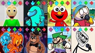 Friday Funny Mod Baldi's Basics,Mod Crewmate,Mod Elmo,Mod South Park,Mod Fireboy and Watergirl