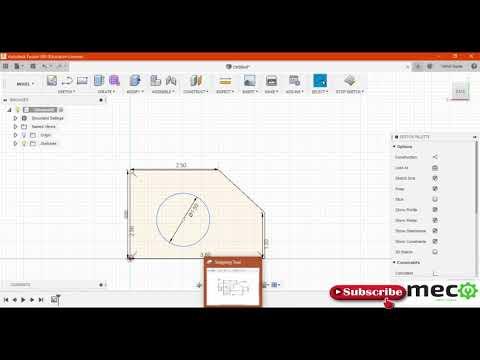 Autodesk Fusion 360 Part Modeling Tutorials 1(  Sketch Modeling Basics Commands) thumbnail