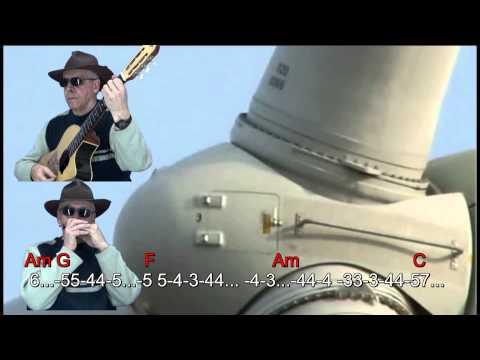 n 055 dust in the wind ( kansas ) armonica( c ) cromatic tabl.+chords guitar mudharmonika