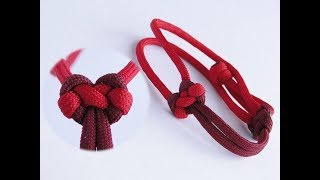 """How to Tie a Heart Shaped Knot/How to Make a Paracord """"Valentine's Day"""" Friendship Bracelet"""