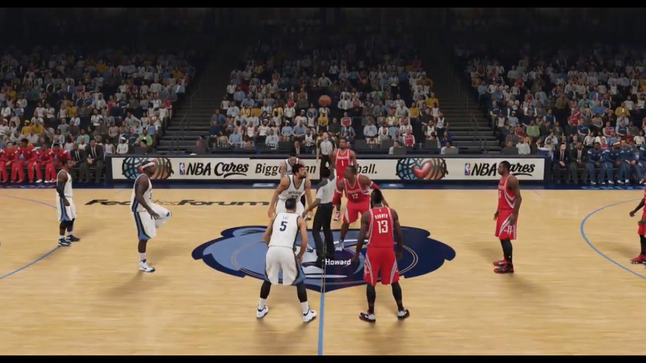 NBA 2K15 HD Gameplay: Rockets vs Grizzlies - YouTube