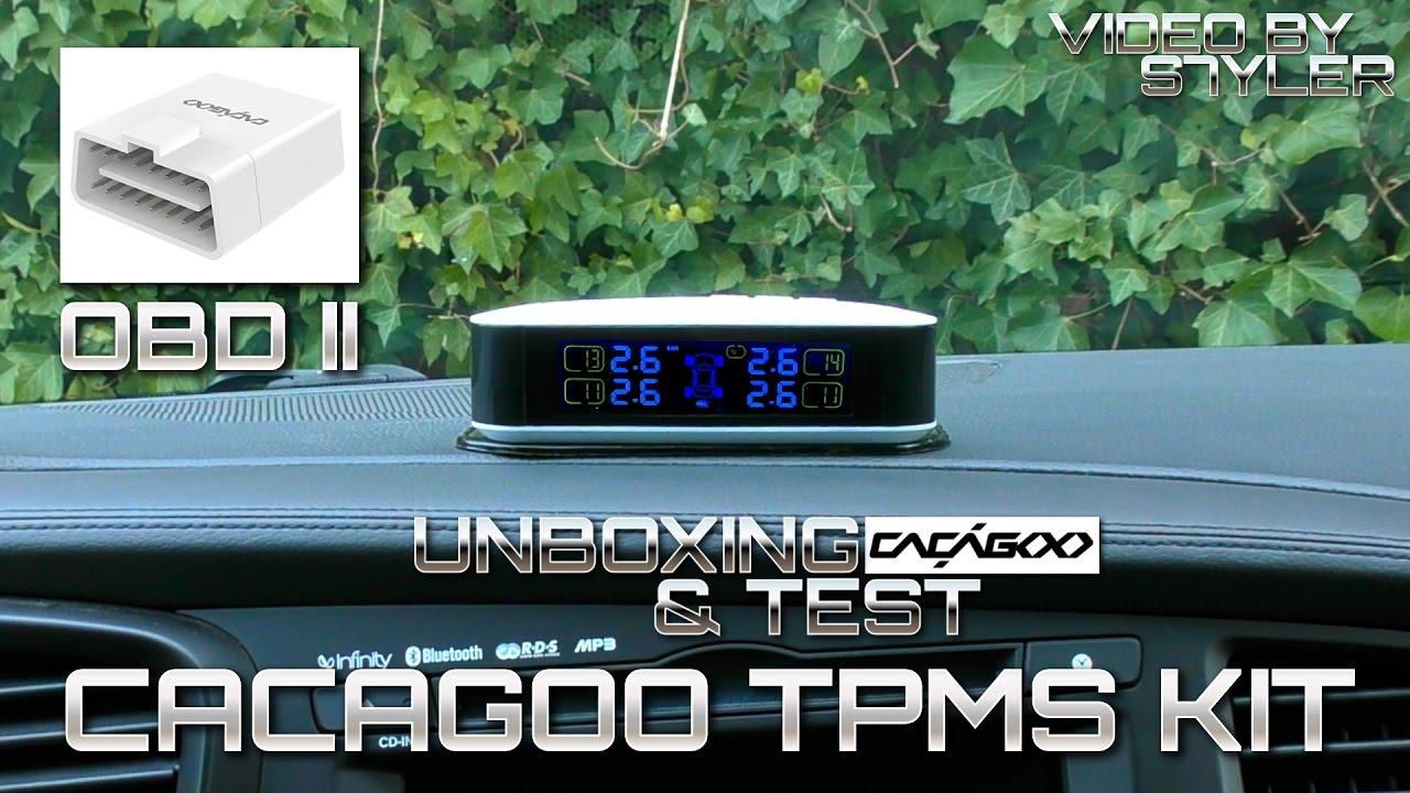 Cacagoo Tpms Kit Obd Ii Scanner External Tire Pressure