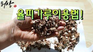 율피가루 밤속껍질 율피팩 이렇게 해보세요.