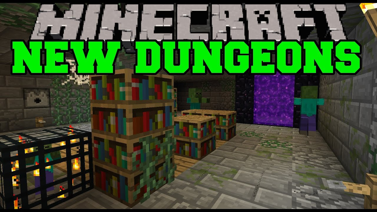 Minecraft Mod Showcase New Dungeons Mod Review Youtube