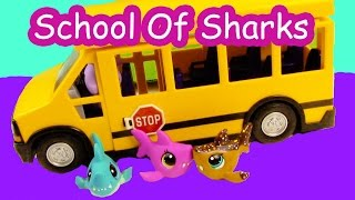 LPS - Bus Ride - School Of Sharks Series Video Littlest Pet Shop Part 1 Cookieswirlc