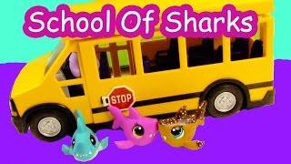 LPS - Bus Ride - School Of Sharks Series Video Littlest Pet Shop Part 1 Cookieswirlc