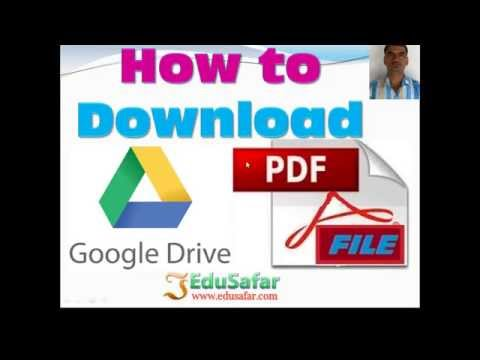 How to Download Google Drive PDF file