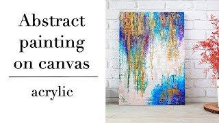 Abstract acrylic painting on canvas\Абстракция акрилом на холсте