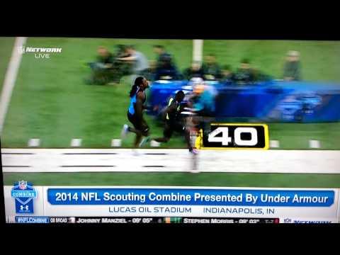 Jadeveon Clowney 40 yard dash - 2014 Combine