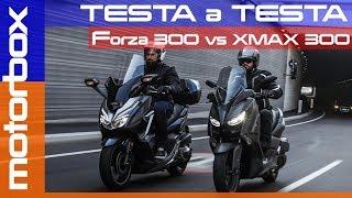 Honda Forza 300 2018 VS Yamaha XMAX 300 | La prova comparativa