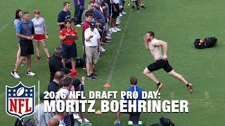 German NFL Draft Prospect, Moritz Boehringer, Impresses with 4.41 40-Yard Dash | NFL