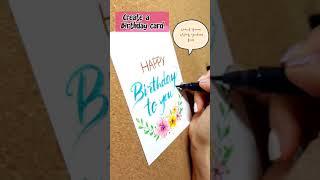 Birthday card 모나미 컬러트윈브러쉬 call…
