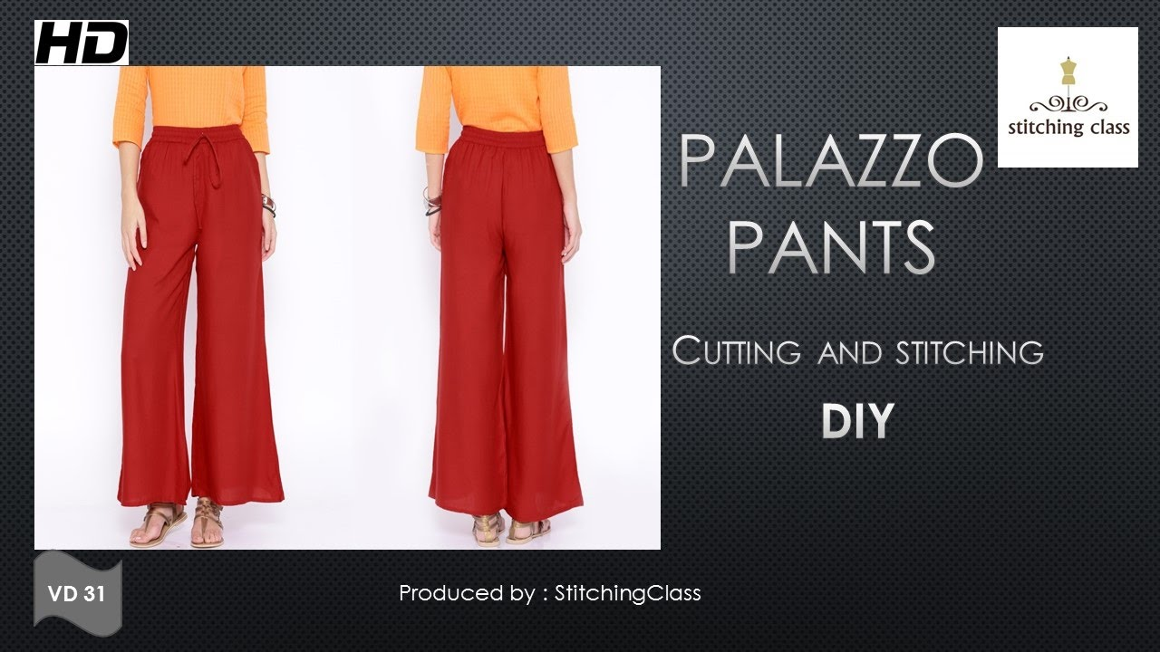 058bb07d6e9 Palazzo Pants Cutting and Stitching DIY - YouTube