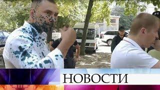 """Националисты напали на кандидатов в депутаты от партии """"Оппозиционная платформа - За жизнь»."""