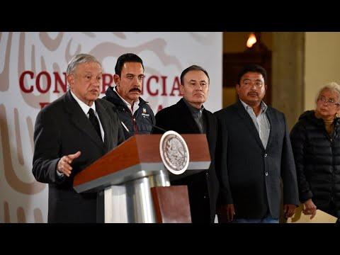 Conferencia de prensa extraordinaria por lo ocurrido en Tlahuelilpan, Hidalgo.