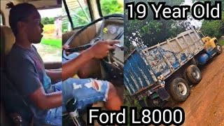 19 Yr Old & Trucking - Shifting the 10 Speed - Ford L9000 Dump Truck