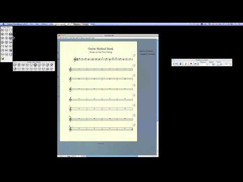 Finale Print Music how to create method book pages, add text, rests, flip note stems & more!