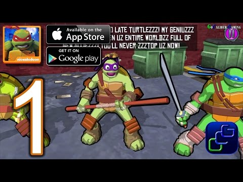 TMNT Portal Power Android IOS Walkthrough - Gameplay Part 1 - New York 1-5