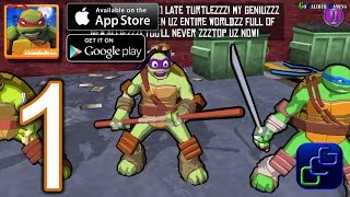 TMNT Portal Power Android iOS Walkthrough - Gameplay Part 1 - New York 1-5
