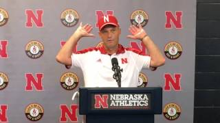 Nebraska Coach Riley after win vs. Oregon