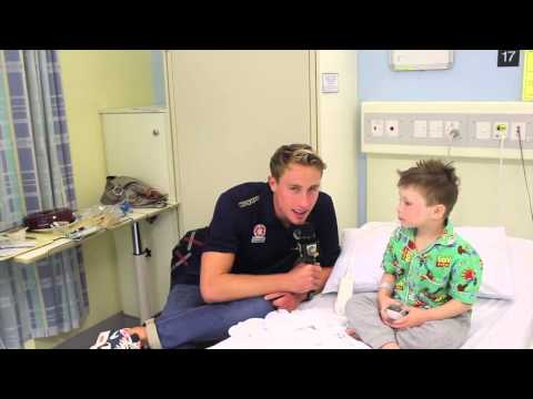 Community: Zac Anderson visits Gosford Hospital