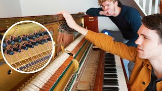 I Put GUITAR Strings on a Piano and then Hired a Piano Tech to Come Fix it