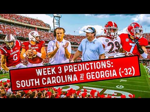 Week 3 predictions: South Carolina Gamecocks at Georgia Bulldogs SEC football bets
