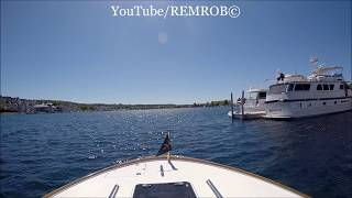 Boating Into Bay Harbor, Michigan