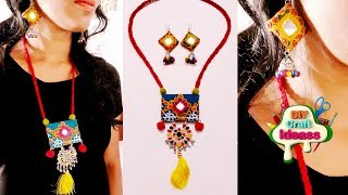 GIFT AND ART JEWELLERY | Navratri and festive jewellery diy | handmade jewellery | diy craft ideas