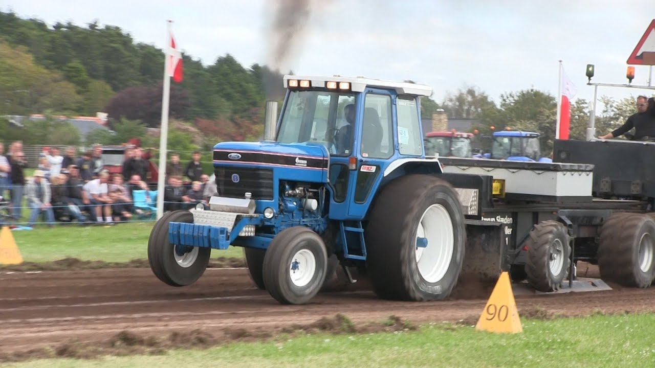 Ford 8700 Tractor : Ford tractor pulling hjørring youtube