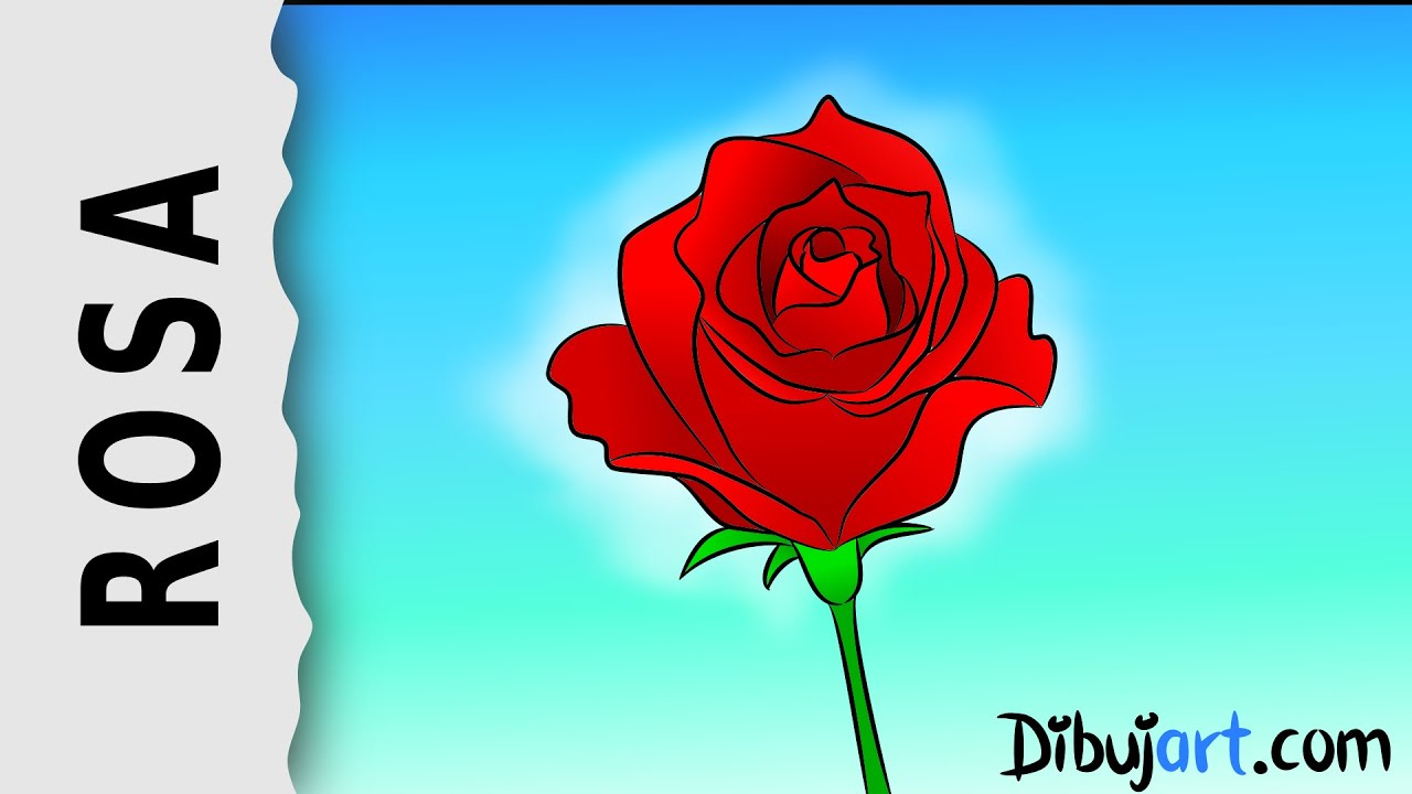 Cmo dibujar una Rosa 1  Serie de dibujos de Rosas  YouTube